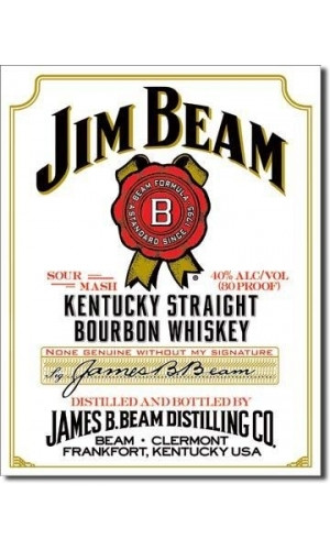 "Blechschild Jim Beam ""White Label"""