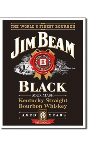"Blechschild Jim Beam ""Black Label"""