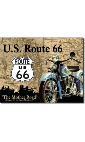 "Blechschild Route 66 ""The Mother Road"""