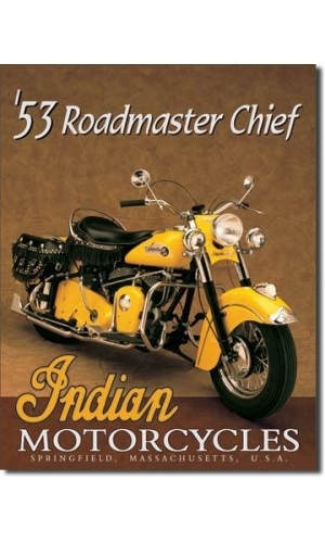 Blechschild Indian Roadmaster Chief