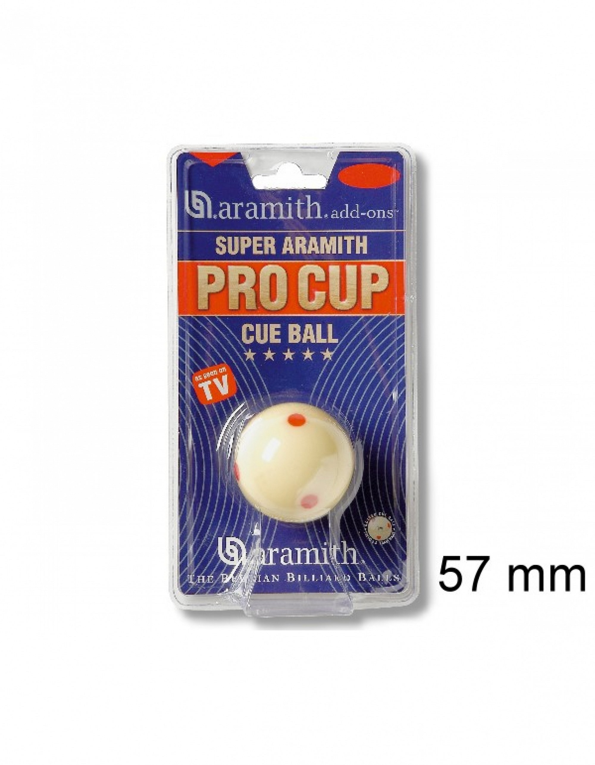 Pool-Spielball SUPER ARAMITH PRO CUP TV, 57, 2 mm
